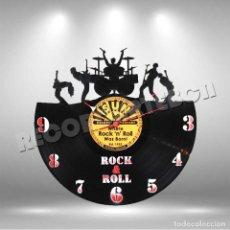 Discos de vinilo: RELOJ DE DISCO LP DE ROCK AND ROLL. Lote 208694476