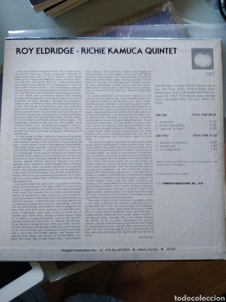 Discos de vinilo: Roy Eldridge - Richie Kamuca Quintet - Comin Home Baby (Pumpkin Productions - 107, US, 1978) - Foto 2 - 208699867