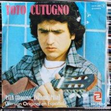 """Dischi in vinile: TOTO CUTUGNO - MIA (DONNA DONNA MIA) (VERSION ORIGINAL EN ESPAÑOL) (7"""", SINGLE) (ZAFIRO) (VG+). Lote 208771550"""