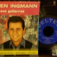 Discos de vinilo: JORGEN INGMANN - Y SUS GUITARRAS - APACHE- RUEDAS- BONANZA. Lote 208772607