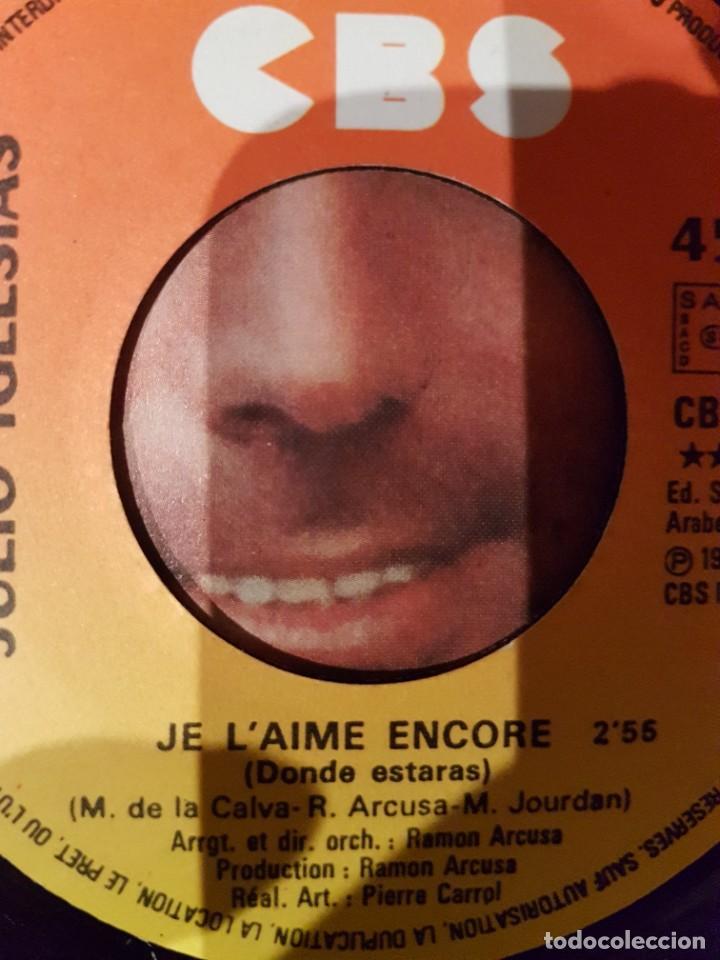 Discos de vinilo: JULIO IGLESIAS - 2 singles MUY RAROS en francés Hey y Pobre Diablo - Foto 7 - 208772967