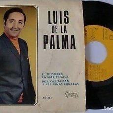 """Discos de vinilo: LUIS DE LA PALMA 7"""" SPAIN EP 45 EL TE QUIERO + 3 SINGLE VINILO ORIGINAL 1970 VICTORIA AMS163 RARO !!. Lote 208780020"""