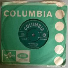 Disques de vinyle: FRANK IFIELD. I REMEMBER YOU/ I LISTEN TO MY HEART. COLUMBIA, UK 1962 SINGLE. Lote 208791318