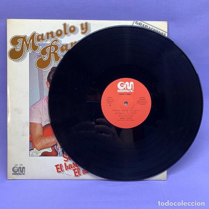 Discos de vinilo: LP MANOLO Y RAMÓN (ARCUSA Y DE LA CALVA) 1978 - ESPAÑA - SOLO PIENSO EN TÍ / LA LA LA - VG++ - Foto 3 - 208852872