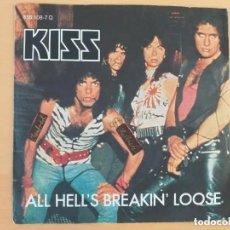 Discos de vinilo: KISS - ALL HELL´S BREAKIN´LOOSE (SG) 1983 EDICION ALEMANA.. Lote 208864985