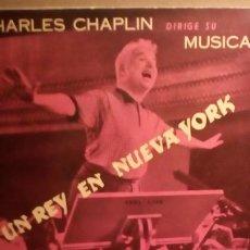 Discos de vinilo: CHARLES CHAPLIN - UN REY EN N.Y.. Lote 208865503