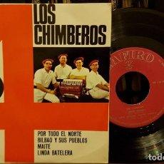 Discos de vinilo: LOS CHIMBEROS - POR TODA EL NORTE - BILBAO Y SUS PUEBLOS. Lote 208866253