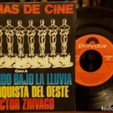 Discos de vinilo: 6 TEMAS DE CINE - CANTANDO BAJO LA LLUVIA - LA CONQUISTA DEL OESTE. Lote 208867917