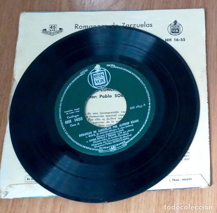 Discos de vinilo: ALFREDO KRAUS - ROMANZAS VOL2 (BLACK EL PAYASO, ENTRE SEVILLA Y TRIANA...- HISPAVOX HH-1655- 45 RPM - Foto 3 - 208793513