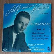 Discos de vinilo: ALFREDO KRAUS - ROMANZAS VOL2 (BLACK EL PAYASO, ENTRE SEVILLA Y TRIANA...- HISPAVOX HH-1655- 45 RPM. Lote 208793513