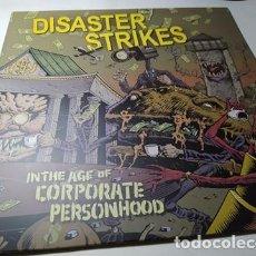 Discos de vinilo: LP - DISASTER STRIKES – IN THE AGE OF CORPORATE PERSONHOOD - VIRUS 485 - ¡¡ NUEVO!! SIN PRECINTO!. Lote 208870060