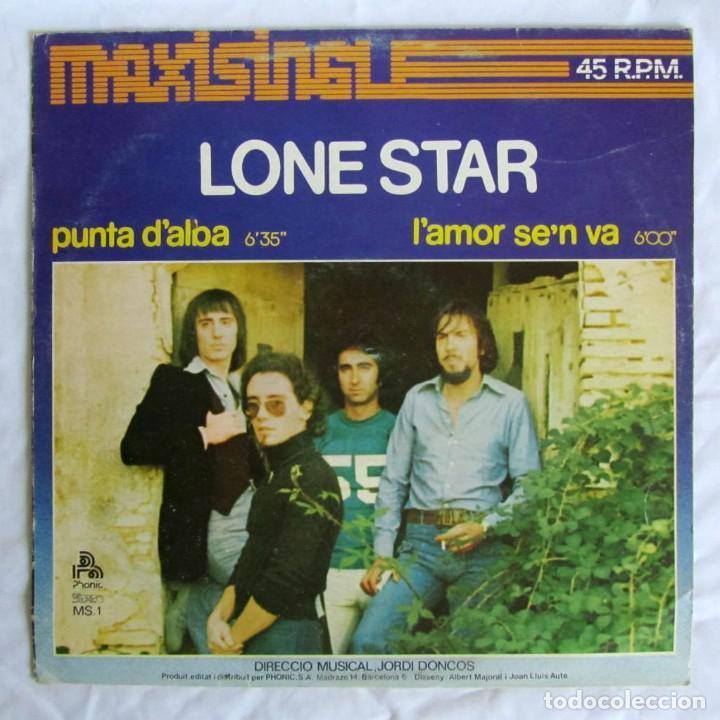 MAXISINGLE VINILO LONE STAR, PUNTA D'ALBA L'AMOR SE'N VA 1977 (Música - Discos de Vinilo - Maxi Singles - Grupos Españoles de los 70 y 80)