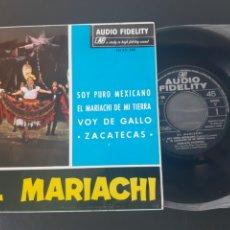 Discos de vinilo: EL MARIACHI. SOY PURO MEXICO. +3. DIR. ARCADIO ELIAS. VOC. LINO BRISEÑO Y JOSE FIGUEROA. AF. 1965.. Lote 208874185