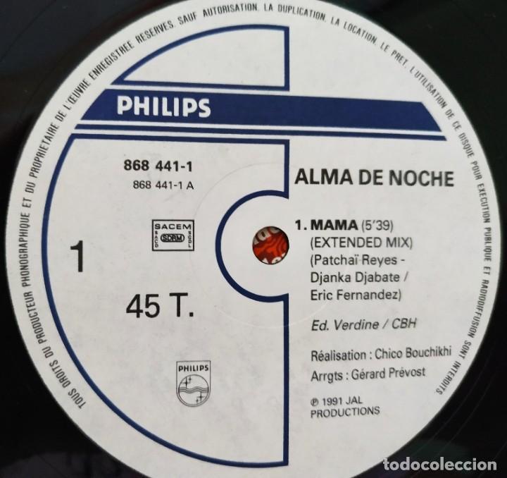 Discos de vinilo: ALMA DE NOCHE / MAMA, Maxi Single 45 rpm. Año 1991, Buen estado - Foto 3 - 208878200
