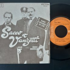 Discos de vinilo: JOAN BAEZ. ENNIO MORRICONE. SACCO ET VANZETTI. BANDA ORIGINAL FILM.. Lote 208878418
