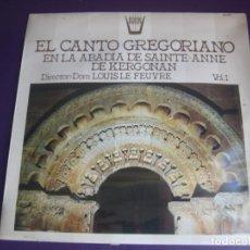 Discos de vinilo: EL CANTO GREGORIANO EN LA ABADIA DE SAINTE-ANNE DE KERGONAN LP ARION 1983 PRECINTADO - MEDIEVAL. Lote 208878950