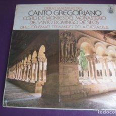 Discos de vinilo: OBRAS MAESTRAS DEL CANTO GREGORIANO - CORO MONJES MONASTERIO SILOS LP HISPAVOX 1983. Lote 208879243