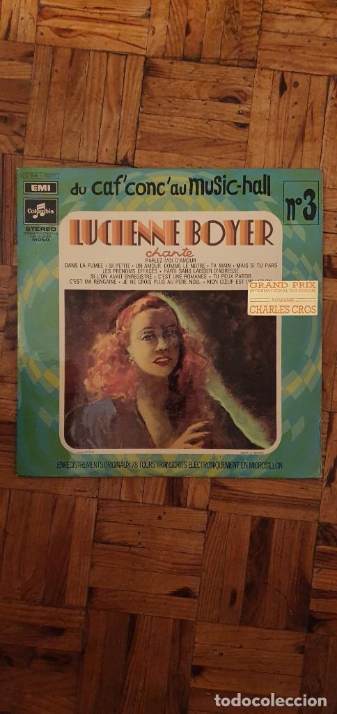 LUCIENNE BOYER ?– LUCIENNE BOYER CHANTE SELLO: PATHÉ ?– 2C 054 15277 SERIE: DU CAF' CONC' AU MUSIC (Música - Discos - LP Vinilo - Canción Francesa e Italiana)
