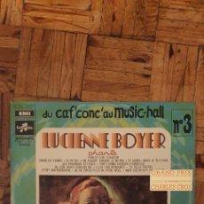 Discos de vinilo: LUCIENNE BOYER ?– LUCIENNE BOYER CHANTE SELLO: PATHÉ ?– 2C 054 15277 SERIE: DU CAF' CONC' AU MUSIC. Lote 208887113