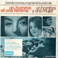 Discos de vinilo: BANDA SONORA ORIGINAL DE LA PELICULA UN HOMBRE Y UNA MUJER. Lote 208889401