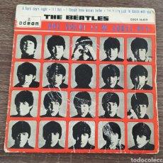 Discos de vinilo: THE BEATLES QUE NOCHE LA DE AQUEL DÍA / A HARD DAY'S NIGHT DSOE 16.619 PRIMERA EDICIÓN ESPAÑOLA. Lote 208897531