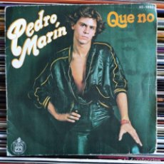 "Disques de vinyle: PEDRO MARÍN - QUE NO (7"", SINGLE) (HISPAVOX) 45-1892 (D:VG+). Lote 208902020"