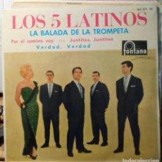 Discos de vinilo: LOS 5 LATINOS LA BALADA DE LA TROMPETA + 3 EP FONTANA SPAIN 1962. Lote 208939826