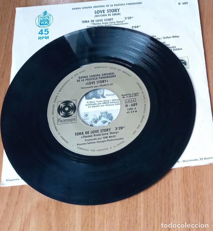 Discos de vinilo: LOVE STORY - TEMA DE LOVE STORY + PATINANDO EN CENTRAL PARK - HISPAVOX 1975 - H689- 45 RPM - Foto 3 - 208792790