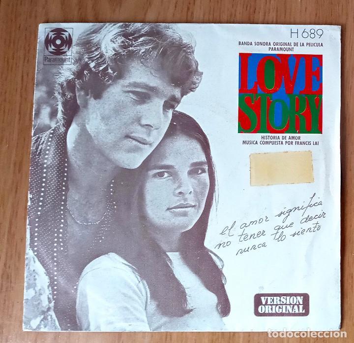LOVE STORY - TEMA DE LOVE STORY + PATINANDO EN CENTRAL PARK - HISPAVOX 1975 - H689- 45 RPM (Música - Discos - Singles Vinilo - Bandas Sonoras y Actores)