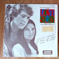 Discos de vinilo: LOVE STORY - TEMA DE LOVE STORY + PATINANDO EN CENTRAL PARK - HISPAVOX 1975 - H689- 45 RPM. Lote 208792790