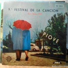 Discos de vinilo: SAN REMO 9º FESTIVAL DE LA CANCION PIOVE + 3 EP TELEFUNKEN SPAIN. Lote 208941711