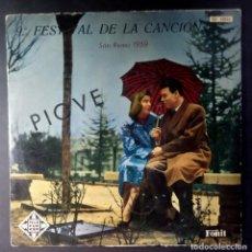 Discos de vinilo: VARIOS - 9º FESTIVAL DE LA CANCION SAN REMO 1959 - LP 10PULGADAS ESPAÑOL - TELEFUNKEN - MODUGNO. Lote 208948831