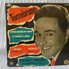 Discos de vinilo: TORREBRUNO - BUENAS NOCHES MI AMOR / LA PIOGGIA CADRA / DIANA / TEQUILA - EP LABEL AZUL TRICENTRO EX. Lote 208960086