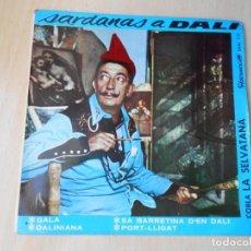 Discos de vinilo: COBLA LA SELVATANA - SARDANAS A SALVADOR DALÍ -, EP, SA BARRETINA D´EN DALÍ + 3, AÑO 1964. Lote 208966928
