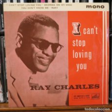 Discos de vinilo: RAY CHARLES EP I CAN'T STOP LOVING YOU / GEORGIA ON MY MIND + 2 1960 MADE IN GREAT BRITAIN. Lote 208982458