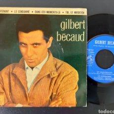 Discos de vinilo: DIFICIL!! GILBERT BECAUD. ET MAINTENANT. + 3 TEMAS LA VOZ DE SU AMO. 1962.. Lote 208997317