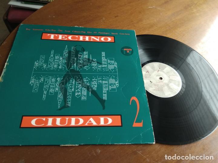 VARIOUS – TECHNO CIUDAD 2-DRO-ESPAÑA-1993- ELECTRONIC TRANCE, INDUSTRIAL, SYNTH-POP-LP- (Música - Discos - LP Vinilo - Techno, Trance y House)