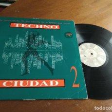 Disques de vinyle: VARIOUS – TECHNO CIUDAD 2-DRO-ESPAÑA-1993- ELECTRONIC TRANCE, INDUSTRIAL, SYNTH-POP-LP-. Lote 209017006