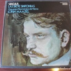 Discos de vinilo: CAJA 4 LPS SIBELIUS / MAAZEL LAS SIETE SINFONIAS - DECCA / EDICION ESPAÑOLA 1975 - SIN USAR. Lote 208969925