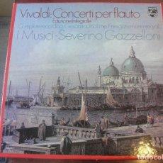 Discos de vinilo: CAJA 3 LPS VIVALDI / CONCERTI PER FLAUTO INTEGRAL - I MUSICI - PHILIPS 1981 SIN USAR. Lote 208971330