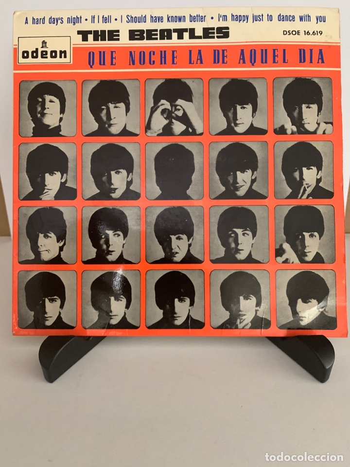 THE BEATLES SINGLE A HARD DAY'S NIGHT - IF I FELL - I SHOULD HAVE KNOW BETTER - I'M JUST TO DANCE (Música - Discos de Vinilo - Maxi Singles - Pop - Rock Extranjero de los 50 y 60)