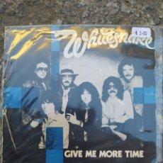Discos de vinilo: WHITESNAKE. GIVE ME MORE TIME. SINGLE VINILO. Lote 209050558