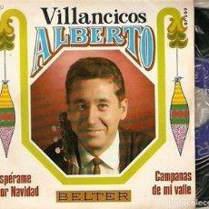 """Discos de vinilo: ALBERTO 7"""" SPAIN 45 VILLANCICOS ESPERAME POR NAVIDAD SINGLE VINILO ORIGINAL 1968 BELTER BUEN ESTADO. Lote 209053503"""