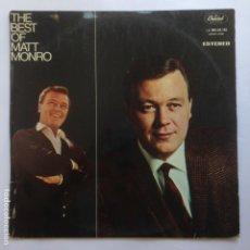 Discos de vinilo: THE BEST OF MAT MONRO. Lote 209083425