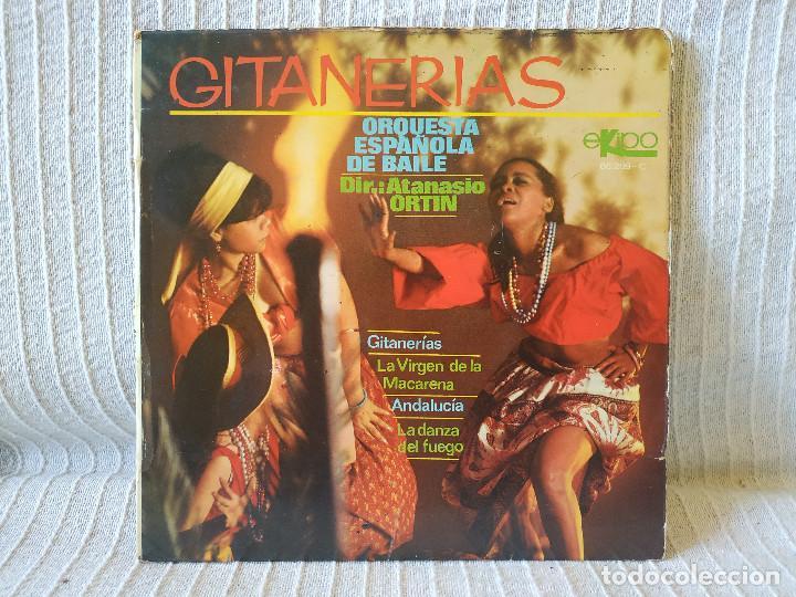 ORQUESTA ESPAÑOLA DE BAILE DIR.: ATANASIO ORTIN - GITANERÍAS + 3 - EP SPAIN EKIPO 66.209-C AÑO 1969 (Música - Discos de Vinilo - EPs - Flamenco, Canción española y Cuplé)
