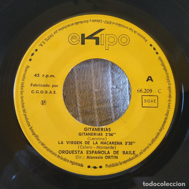 Discos de vinilo: Orquesta Española De Baile Dir.: Atanasio Ortin - Gitanerías + 3 - EP Spain Ekipo 66.209-C año 1969 - Foto 2 - 209091365