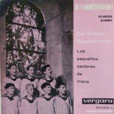 Discos de vinilo: LOS PEQUEÑOS CANTORES DE VIENA - VILLANCICOS ALEMANES - EP SELLO VERGARA DE 1961 COMO NUEVO. Lote 209101053