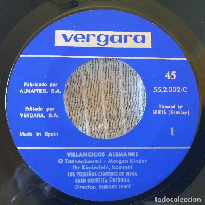 Discos de vinilo: LOS PEQUEÑOS CANTORES DE VIENA - VILLANCICOS ALEMANES - EP SELLO VERGARA DE 1961 COMO NUEVO - Foto 3 - 209101053