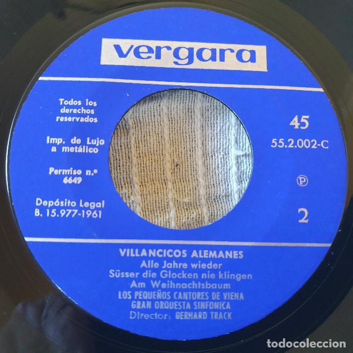 Discos de vinilo: LOS PEQUEÑOS CANTORES DE VIENA - VILLANCICOS ALEMANES - EP SELLO VERGARA DE 1961 COMO NUEVO - Foto 4 - 209101053