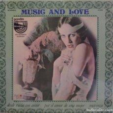Discos de vinilo: RALPH FINGERS Y SU ORQUESTA MUSIC AND LOVE GRANDES COLECCIONES DEL CORTE INGLES RED POINT 1976. Lote 209106948